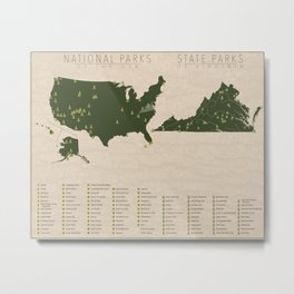 US National Parks - Virginia Metal Print