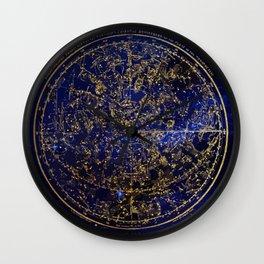Star Map - City Lights Wall Clock