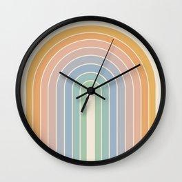Gradient Arch - Rainbow III Wall Clock