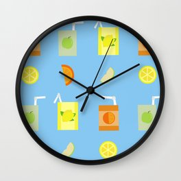 Juice Pattern Wall Clock