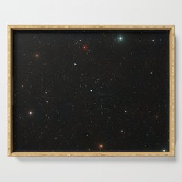 Hubble Space Telescope - Wide-field view of the area around NGC 922 Serving Tray