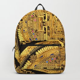 Buddhist Mandala Gold Temple 40 Backpack