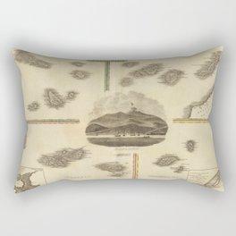 Vintage Azores, Cape Verde, Canary Islands Map (1814) Rectangular Pillow