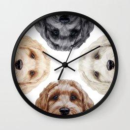 Doodle Friends by miart Wall Clock