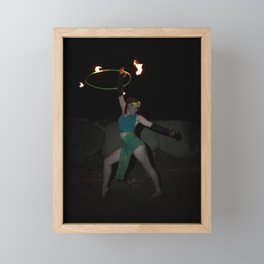 Halo of Fire - Fire Hoop Performance Framed Mini Art Print