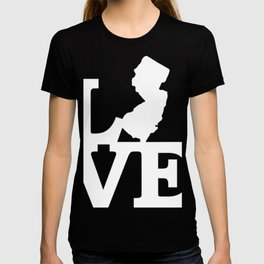 New Jersey Pride USA State Love Map T-shirt