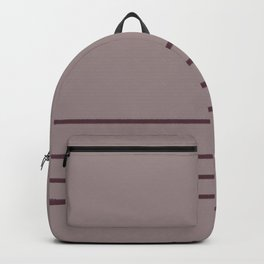 Deep Purple Pink-Purple Thin 4 Stripe Pattern 2021 Color of the Year Epoch Spiced Mulberry Backpack