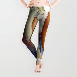 Cute Hentai Girl Upskirt Panties Ultra HD Leggings