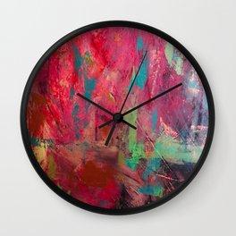 Survival// Trigger Warning/ abstract/pink Wall Clock