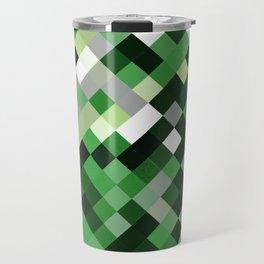 Aromantic Pride Pixelated Angled Squares Travel Mug