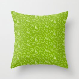 Fruits, Vegetables, Junk, Foods, Bad, Healthy, Gift Throw Pillow