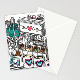The Ancient Roma Coffee Machine Stationery Cards