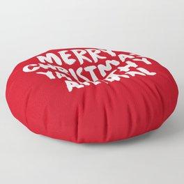 Merry Christmas Ya Filthy Animal, Funny, Saying Floor Pillow