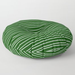 Forest Green Pinstripes Floor Pillow