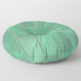 Cyan Tiles Floor Pillow