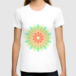 Firecracker & Lace Mandala Digital Art T-shirt