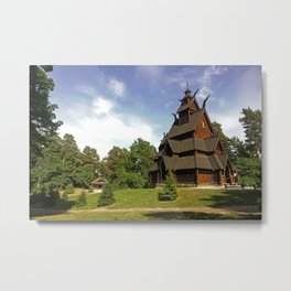 Viking House in Norway - Fine Art Travel Photography Metal Print