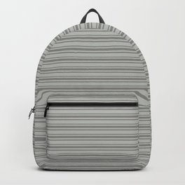 Benjamin Moore Cinder Dark Gray Triple Horizontal Stripes on Color of the Year 2019 Metropolitan Backpack
