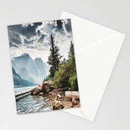 moraine lake in alberta Stationery Cards