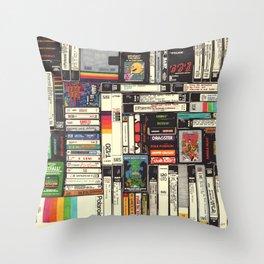 Cassettes, VHS & Games Throw Pillow