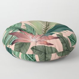 Tropical Monstera Swiss Cheese Plant Floor Pillow