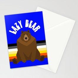 Lazy Bear flag gay bear pride lgbt bears osos gay  Stationery Cards