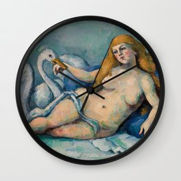 Leda and the Swan, Paul Cezanne, 1880 Wall Clock