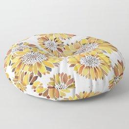 Sunflower Blooms – Yellow Floor Pillow