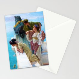 Lawrence Alma-Tadema - A Coign Of Vantage - Digital Remastered Edition Stationery Cards