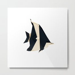 Origami Moorish Idol Metal Print