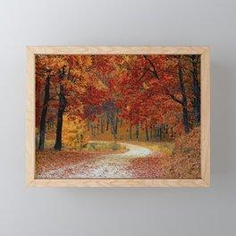 Red Autumn Framed Mini Art Print