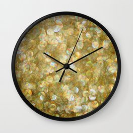 Gold Light Abstract Sparkle Photograph Wall Clock