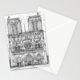 NOTRE-DAME de PARIS - pencil portrait .1 Stationery Cards