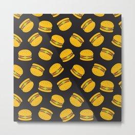 Burger Pattern  Everett co Metal Print