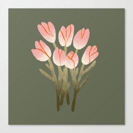 Tulip Drawing Canvas Print