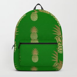 Pineapple green and gold Backpack