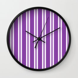 Purple and White Stripes Wall Clock
