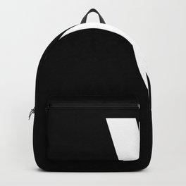 Backslash Symbol (White & Black) Backpack