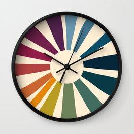 Retro Blossom Wall Clock