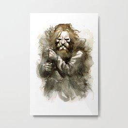 Neolithic huntsman by Anna Helena Szymborska Metal Print