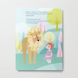 Aslan & Lucy Talking Metal Print