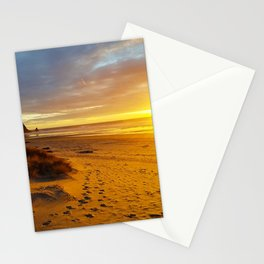 Cannon Beach Oregon at Sunset Haystack Rock Stationery Cards