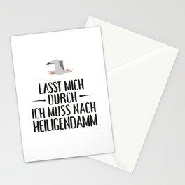 Lasst mich durch ich muss nach Heiligendamm Möwe Stationery Cards