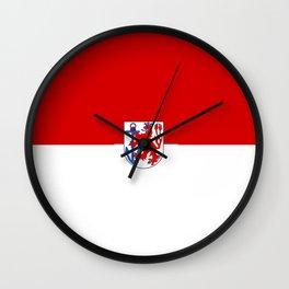 Flag of  Düsseldorf Wall Clock