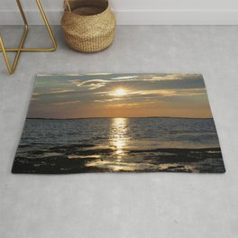 Watercolor Sunset, Janes Island 13, Maryland Rug