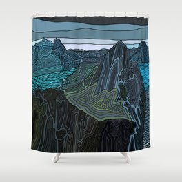 Norway Fjords  Shower Curtain
