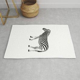 Zebra illustration Rug