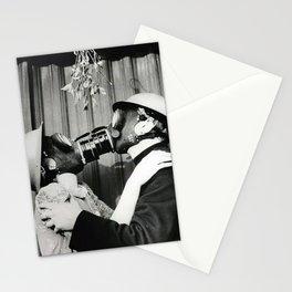Gas Mask Mistletoe -40s Stationery Cards