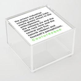 Critical Theory.. But Make It Fashion Acrylic Box