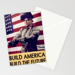 Patriotic Vintage Welder Stationery Cards